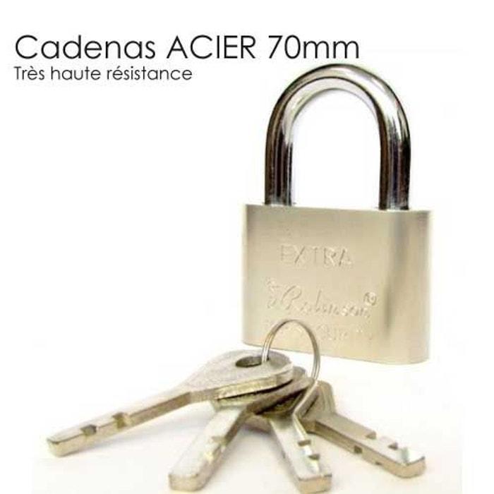 Cadenas acier trempe 70 mm couleur unique securite good for Alarme maison securite good deal