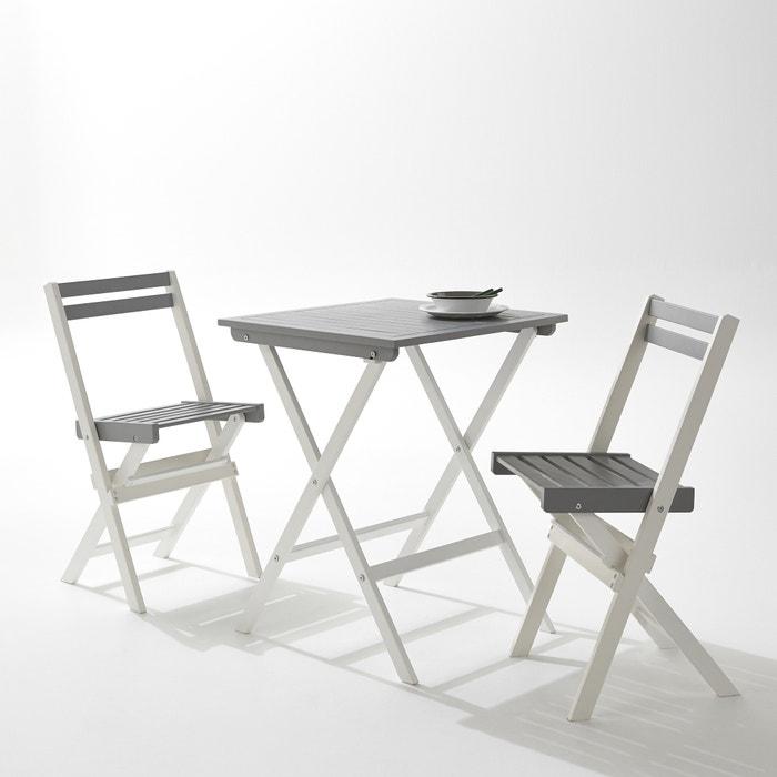 Image Set de jardin avec 1 table et 2 chaises pliantes La Redoute Interieurs