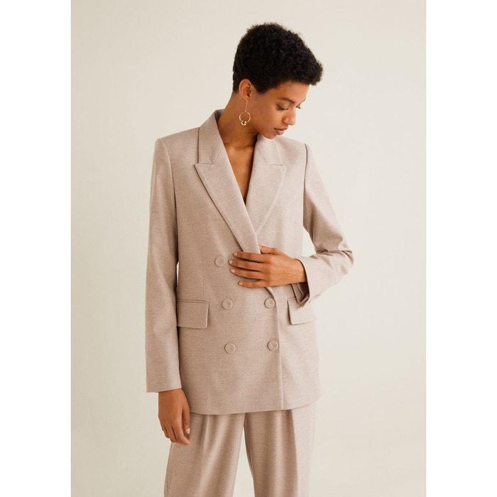 Veste de costume structurée beige Mango   La Redoute fd3e2c8d959d