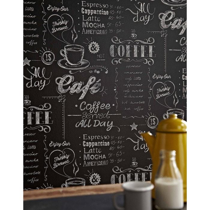 papier peint coffee shop noir blanc atylia la redoute. Black Bedroom Furniture Sets. Home Design Ideas