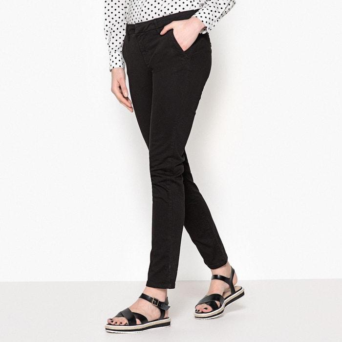 Pantalon chino sandy 2 basic black Reiko   La Redoute 7b2db15f1e37