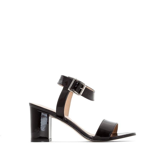 Sandales cuir daviou noir verni Jonak