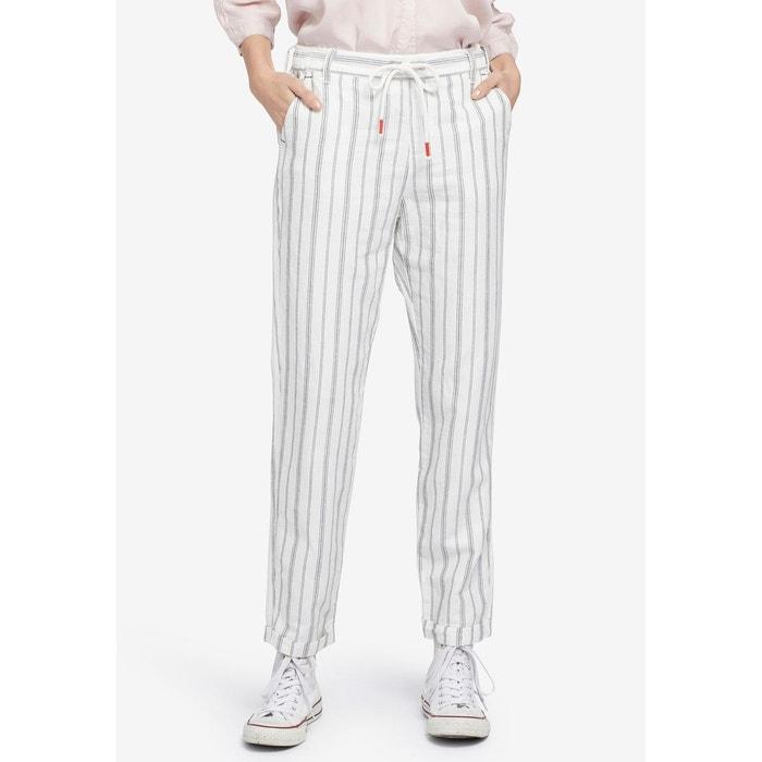 43b6d002c2720f Pantalon avec taille élastique et motif à rayures ROSSA STRIPE