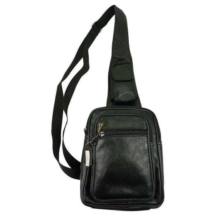 Sacoche pochette holster porté travers en cuir noir Chaussmaro | La Redoute Originale Pas Cher En Ligne Ordre Pré Sortie vraiment r9yUXhpZ96
