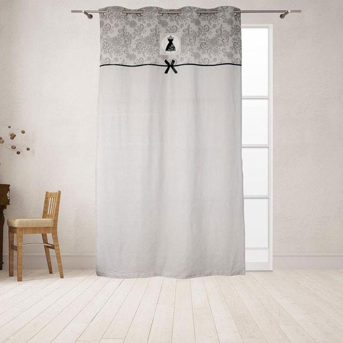 Un panneau de rideau oeillets black dress couleur unique cbk la redoute - Panneau japonais la redoute ...