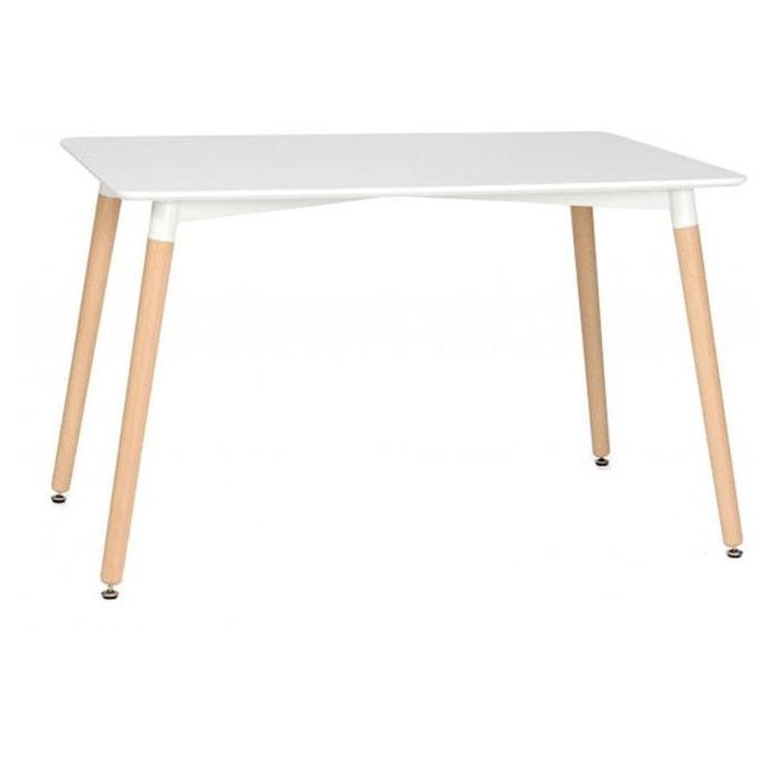 table rectangulaire blanche 80x120 sidoine blanc declikdeco la redoute. Black Bedroom Furniture Sets. Home Design Ideas
