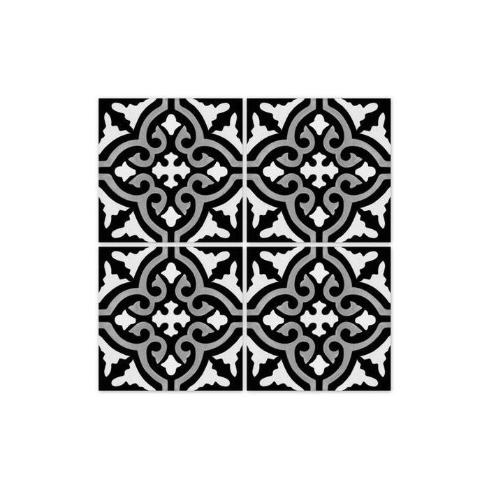 stickers pour carrelage de salle de bain ou cuisine rimal noir blanc wadiga la redoute. Black Bedroom Furniture Sets. Home Design Ideas
