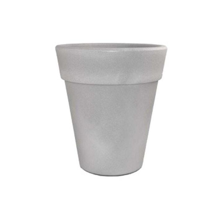 pot pour fleurs omega gris ciment 35 cm couleur. Black Bedroom Furniture Sets. Home Design Ideas