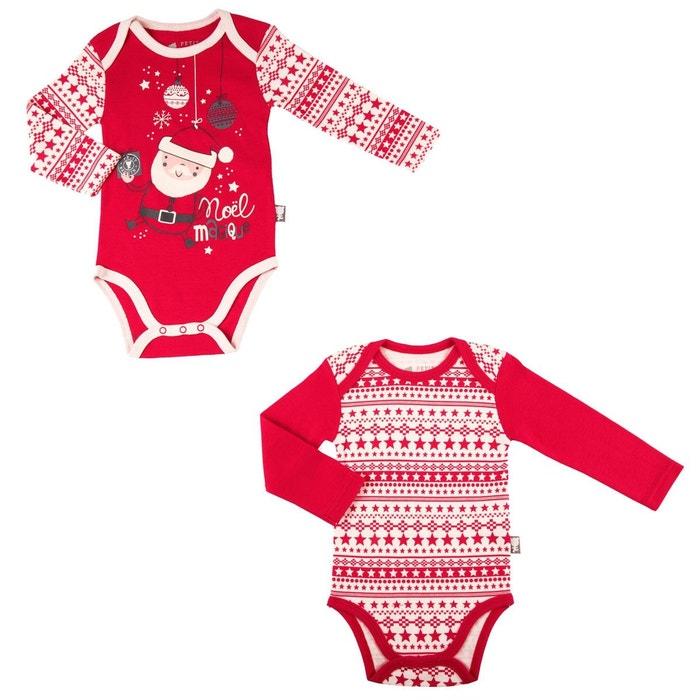 Lot de 2 bodies bébé mixte Super Noël  PETIT BEGUIN image 0