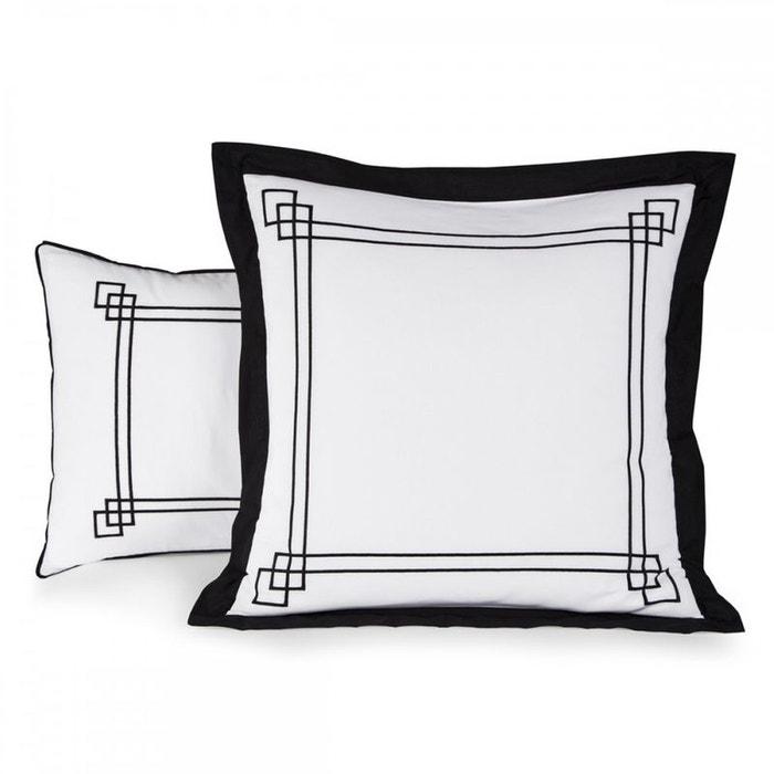 taie d 39 oreiller pompei v000526 percale coton blanc tradition des vosges la redoute. Black Bedroom Furniture Sets. Home Design Ideas