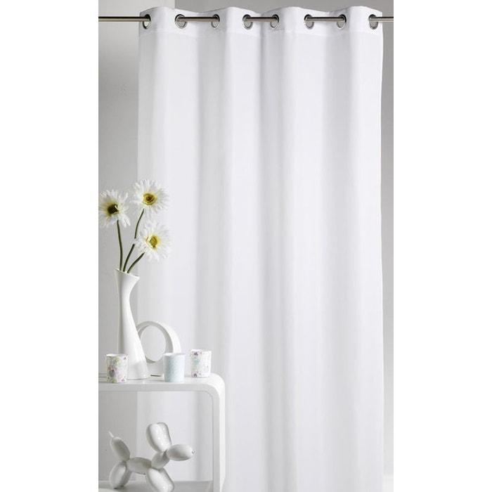 rideau d 39 ameublement en microfibre uni home maison la redoute. Black Bedroom Furniture Sets. Home Design Ideas