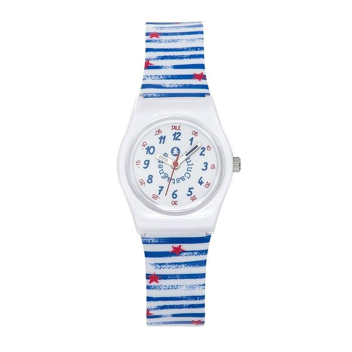 5e675e6e7424e Montre fille lulu castagnette pop kid cadran pédagogique bracelet plastique  bleu marine Lulu Castagnette   La Redoute