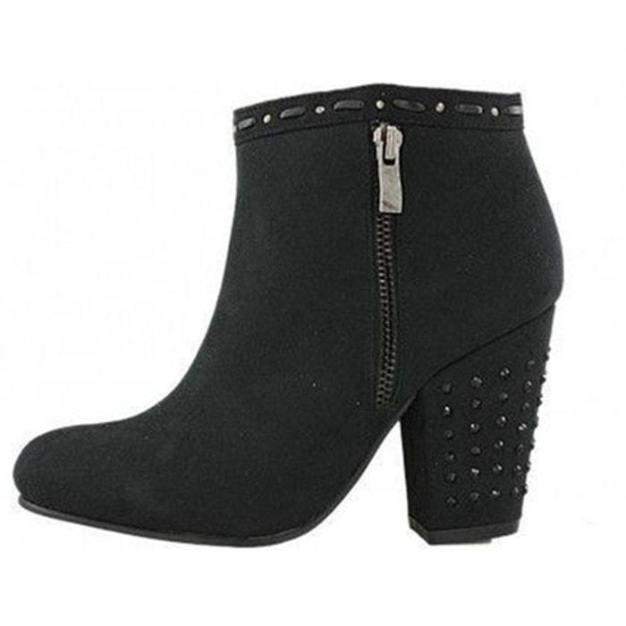 bottines boots synthetique noir initiale paris la redoute. Black Bedroom Furniture Sets. Home Design Ideas