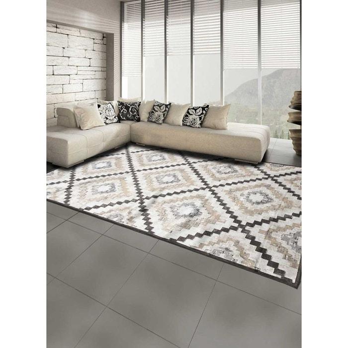 Tapis de salon moderne design vt triangle spirit - viscose beige Un ...
