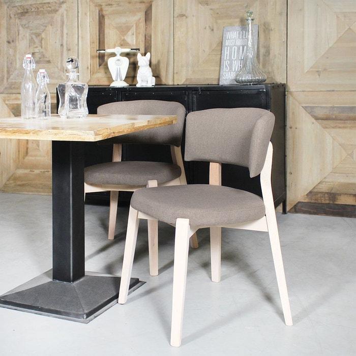 chaise moderne pieds h tre ti32t en soldes taupe made. Black Bedroom Furniture Sets. Home Design Ideas