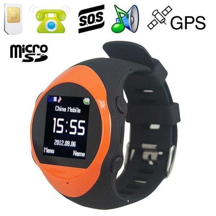 montre gps alarme mini t l phone kit mains libres lecteur mp3 orange orange yonis la redoute. Black Bedroom Furniture Sets. Home Design Ideas