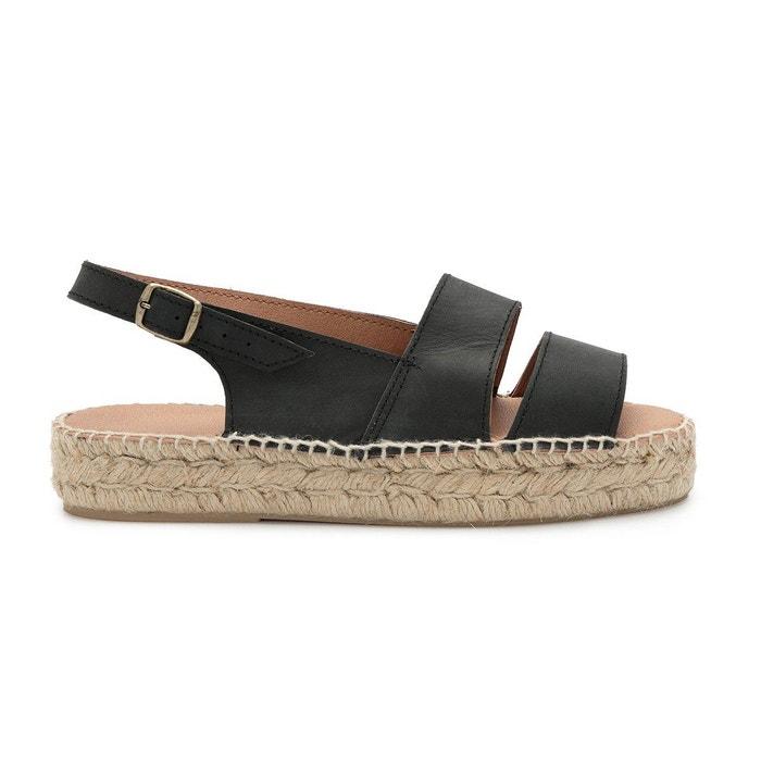 Sandale carlota noir Polka Shoes Footaction Prix Pas Cher Acheter En Vente En Ligne 35eK5eU