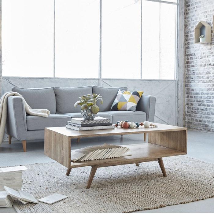 table basse en bois de mindy 120 x 60 cm oslo naturel. Black Bedroom Furniture Sets. Home Design Ideas