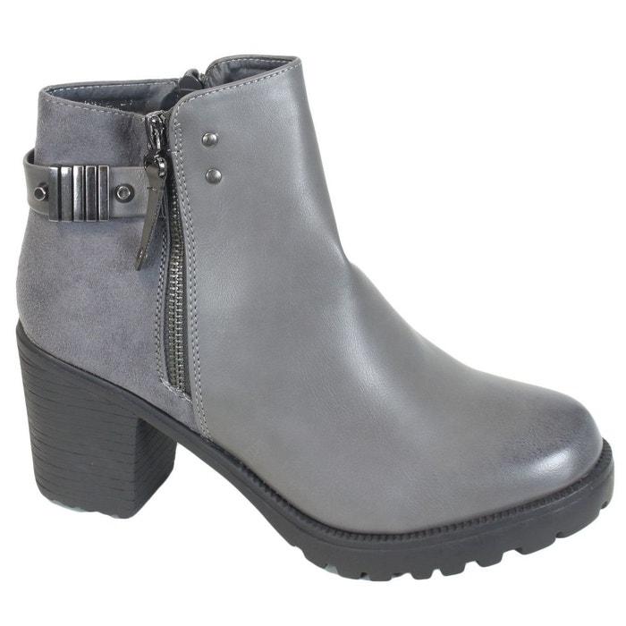 Bottines fr72 gris Kebello