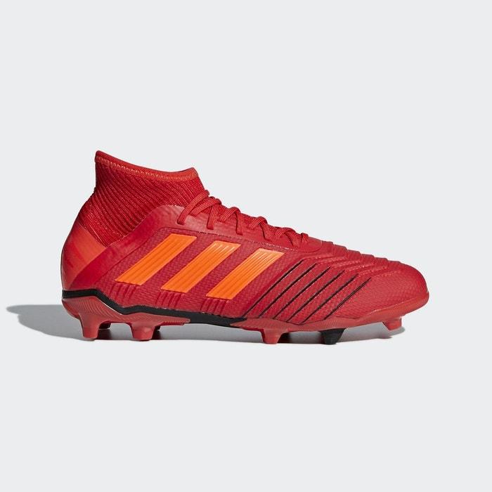 6768abad79453 Baskets chaussure predator 19.1 firm terrain souple rouge Adidas Performance