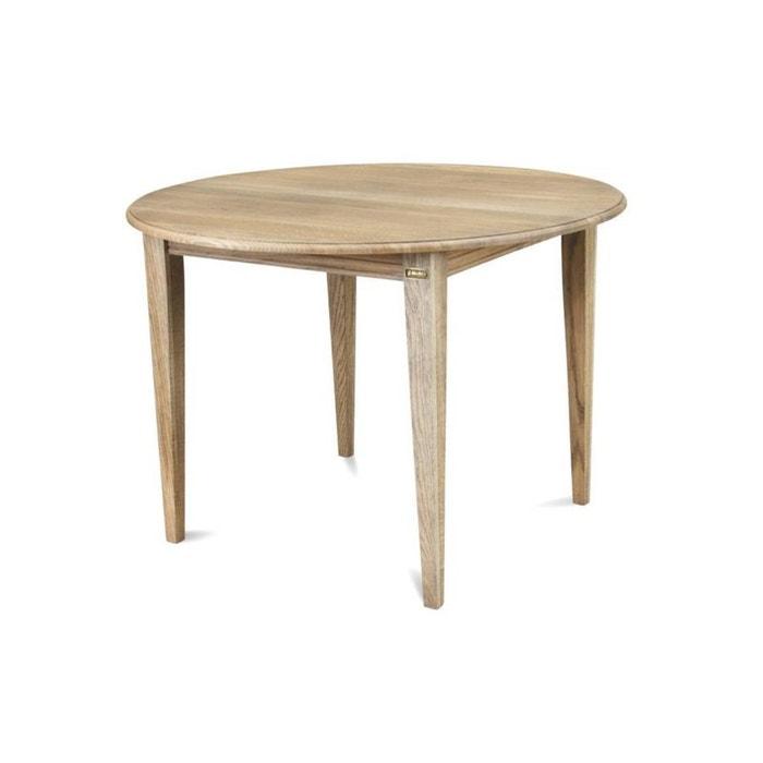 Table ronde avec allonge et pieds fusel s victoria bois ch ne massif ch ne d lav hellin - Table ronde la redoute ...