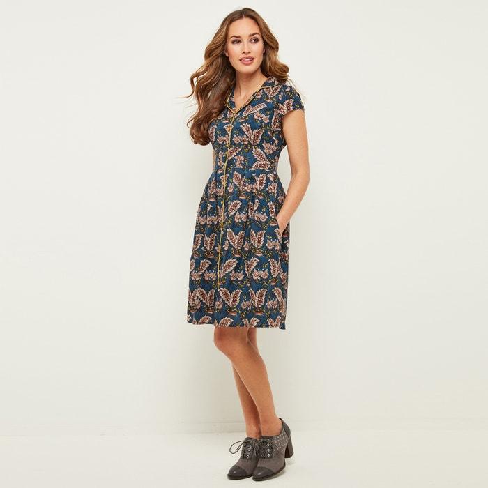 Flared Shirt Dress with Short Sleeves  JOE BROWNS image 0