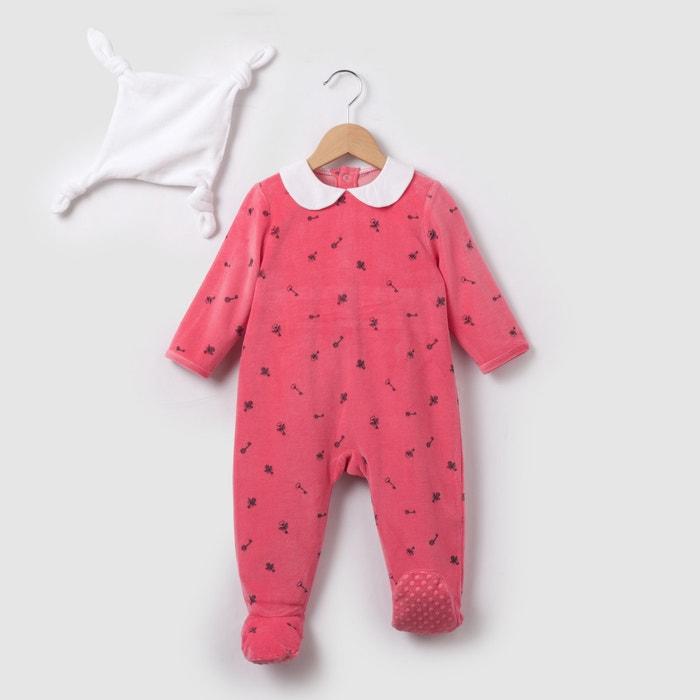 afbeelding Pyjama in fluweel + knuffel 0 mnd-3 jr R mini