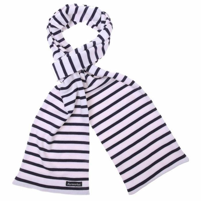 Echarpe pagaie en coton à rayures blanc Armor-Lux   La Redoute 2bb735a1e79