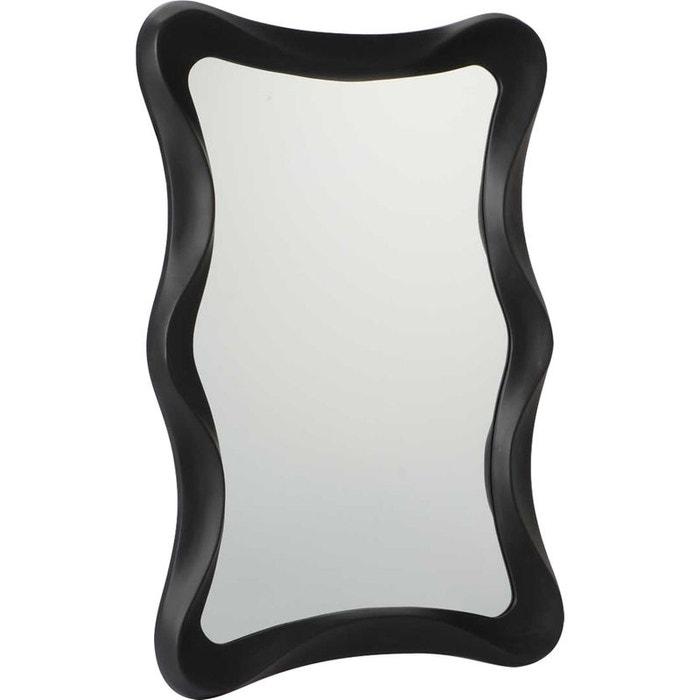 Miroir 100cm noir mat bloom noir amadeus la redoute for Miroir mural collant