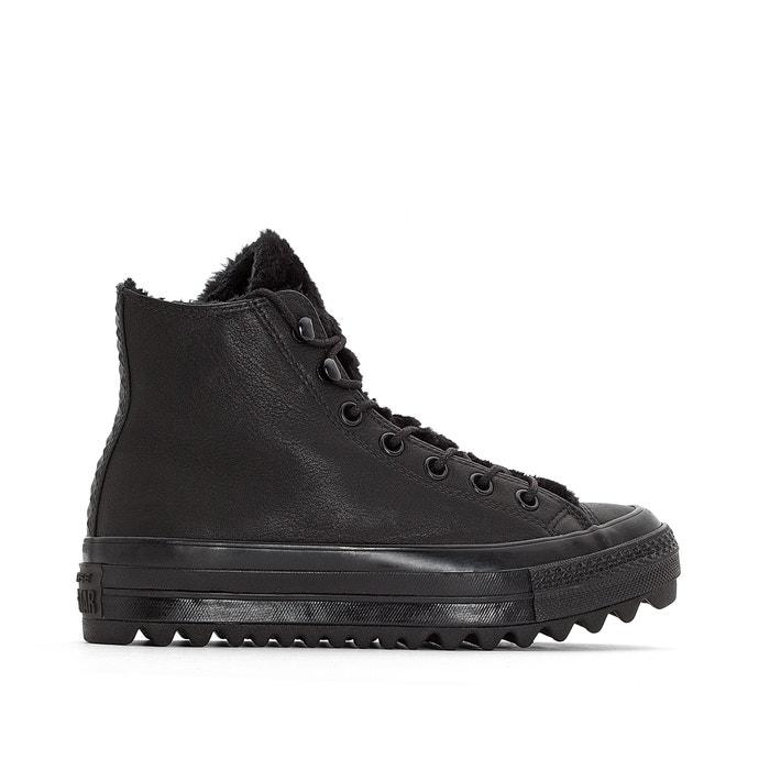 3ce496e2e25ba Zapatillas chuck taylor all star lift ripple negro Converse