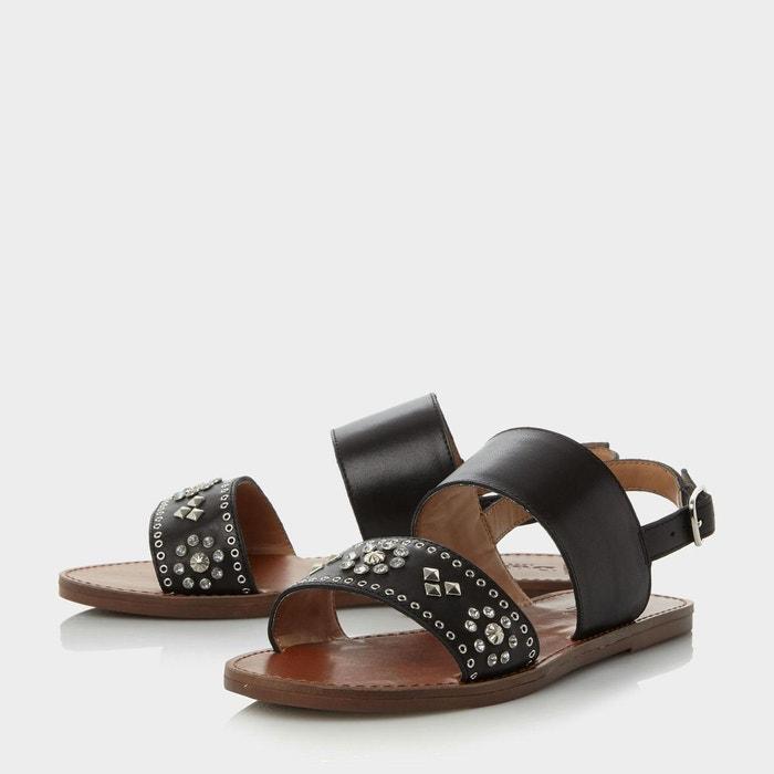 Sandales plates ornées de strass avec bride arrière cloutée - w luma Dune London