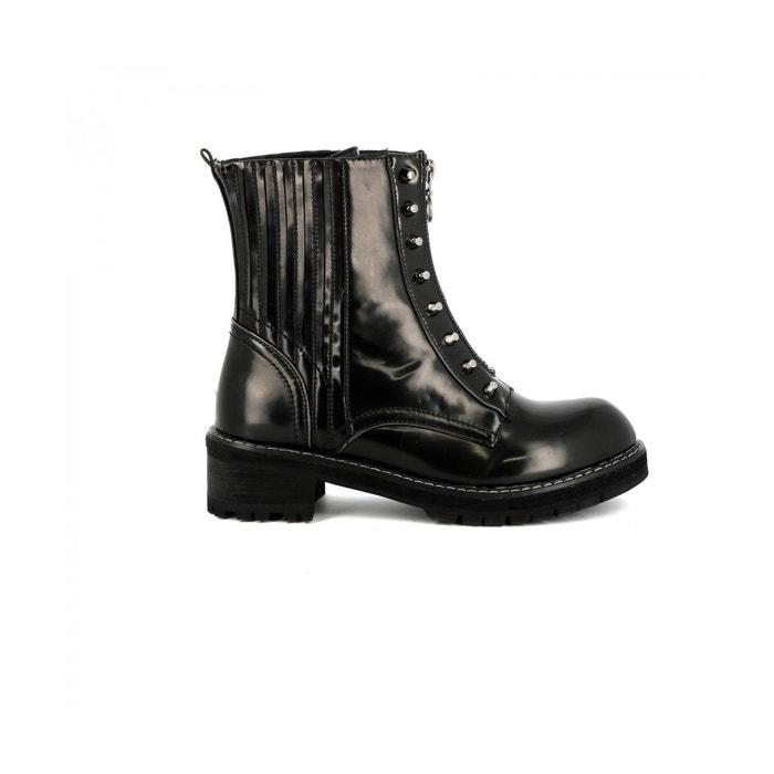 Cassis Côte D'azur Bottine ranger NADEGE Noir - Chaussures Boot Femme