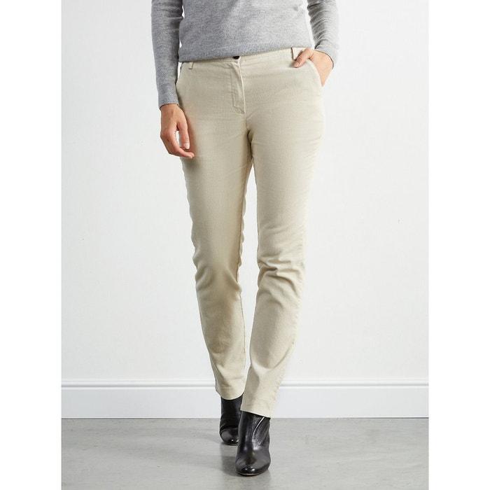 Pantalon chino femme blanc Cyrillus   La Redoute 9224b9c808b