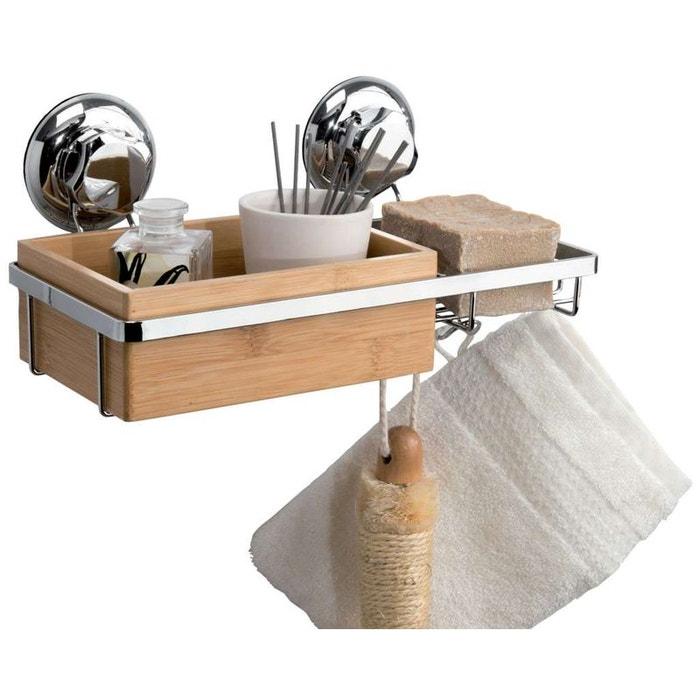 Porte savon et rangement ventouses spa en bambou for Rangement savon