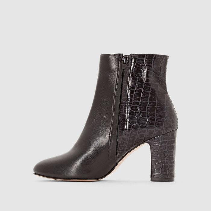 Vente À La Mode Dune Boots en cuir à talon OLYMPE Rabais Dernière De Haute Qualité En Ligne IAD2MvlAFw