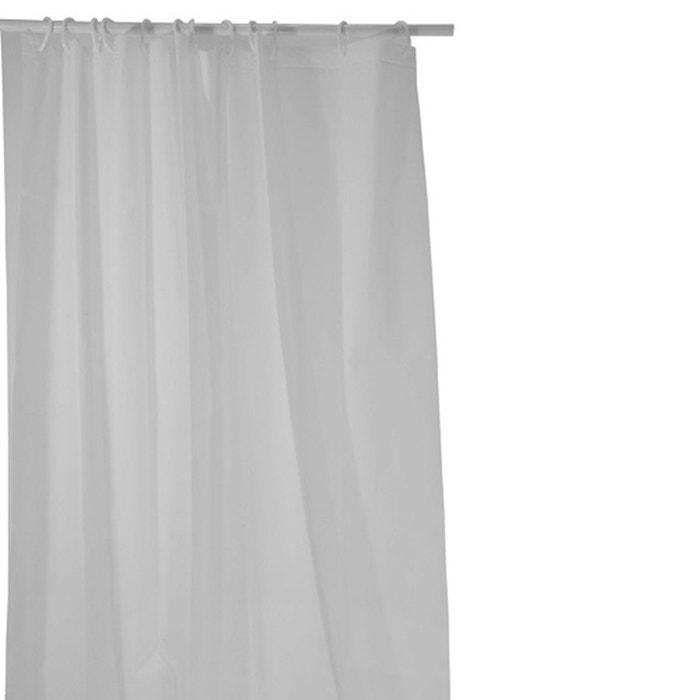 Rideau de douche eva 180 x 200 cm blanc blanc instant for Rideau douche la redoute
