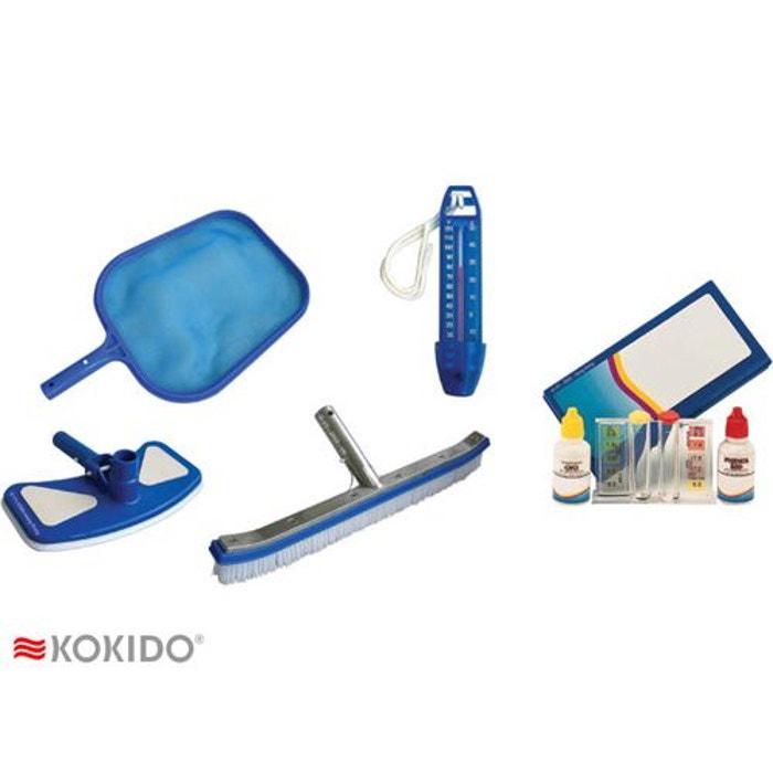 Kit d 39 entretien pour piscine couleur unique kokido la redoute for Piscine la redoute