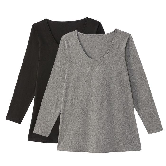 Confezione da 2 T-shirt scollo rotondo maniche lunghe  CASTALUNA image 0