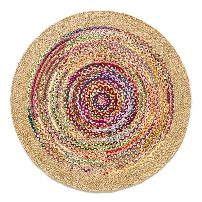 tapis jute et coton 120 cm jaco multicolore am pm la. Black Bedroom Furniture Sets. Home Design Ideas