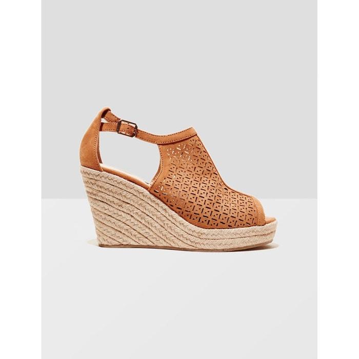 Sandales compensées camel Jennyfer