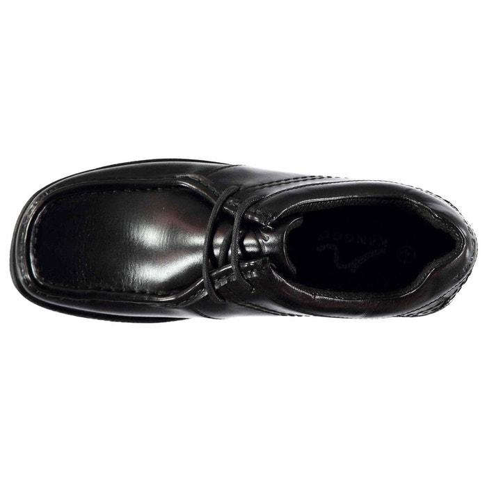 Chaussures mocassins à lacets noir Kangol