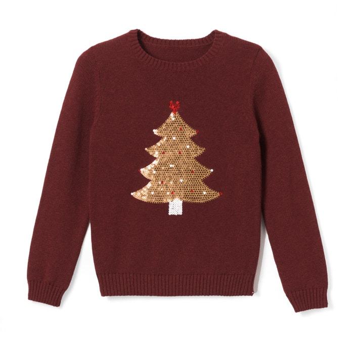 Pullover mit Weihnachtsbaum-Motiv aus Pailletten, 3-12 Jahre  La Redoute Collections image 0