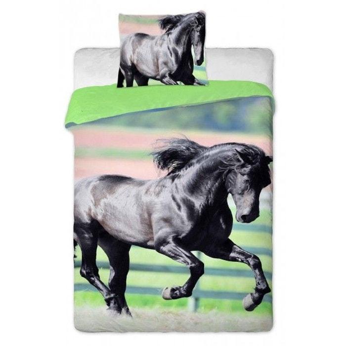 parure de lit cheval chevaux noires multicolore home la redoute. Black Bedroom Furniture Sets. Home Design Ideas