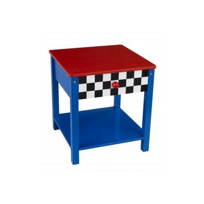 Table de chevet voiture de course kidkraft la redoute for Table chevet la redoute