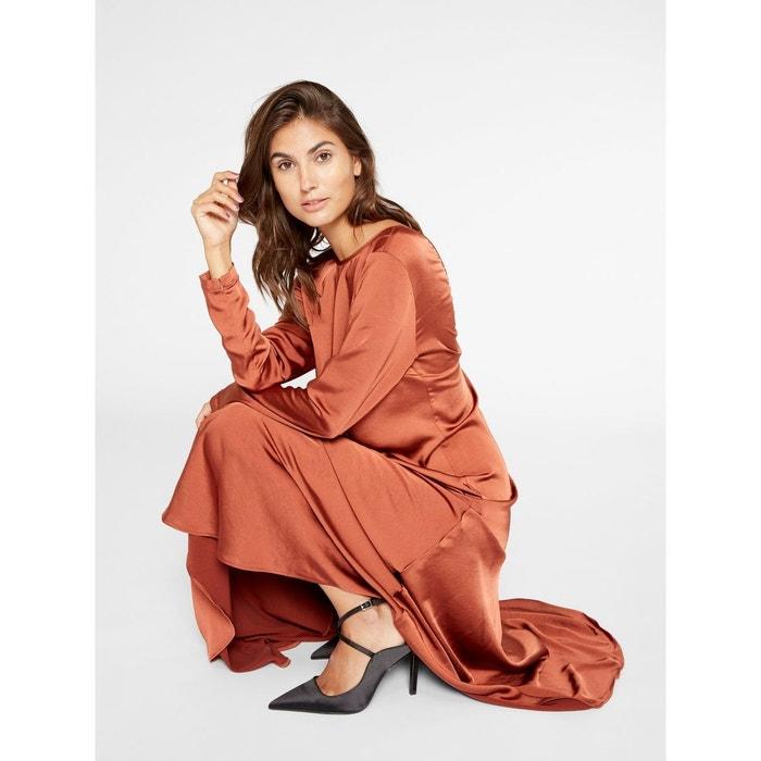 Brillante Marron Robe Longue Coupe Spice Ligne Arabian YasLa De 8NOmv0wn