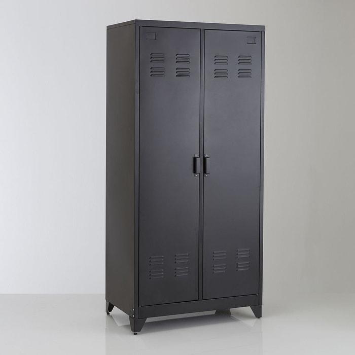 armoire 2 portes en m tal hiba la redoute interieurs la. Black Bedroom Furniture Sets. Home Design Ideas