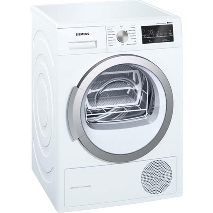 s che linge pompe chaleur wt47w491ff blanc siemens la. Black Bedroom Furniture Sets. Home Design Ideas