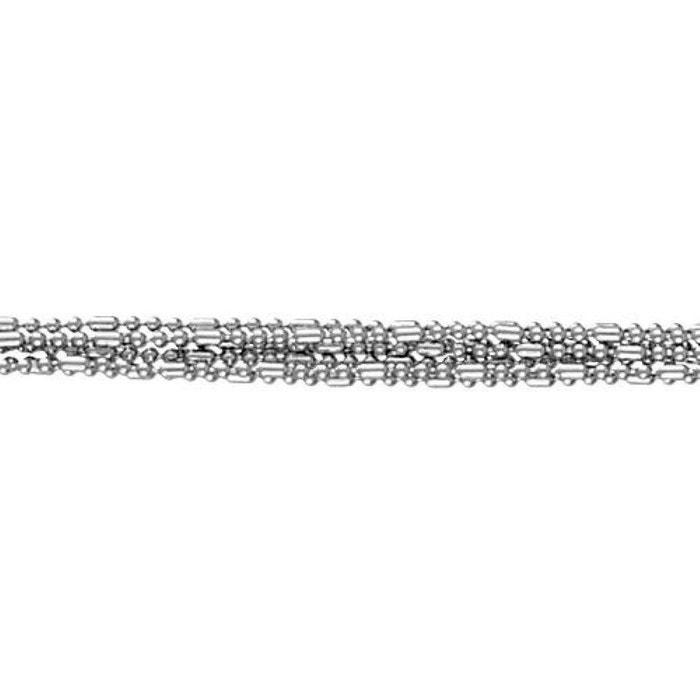 Bracelet 19 cm 7 chaînes boules argent 925 couleur unique So Chic Bijoux | La Redoute