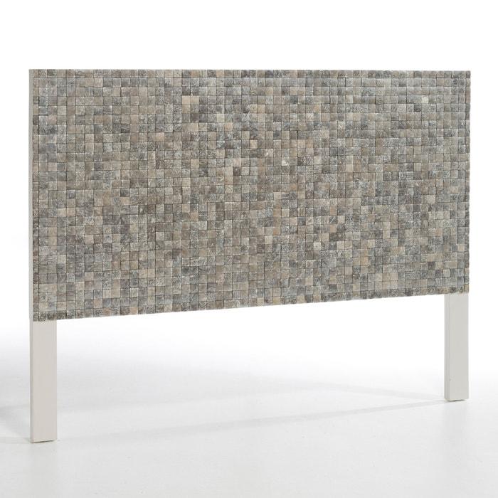 t te de lit tanja am pm fond blanc gris perle la redoute. Black Bedroom Furniture Sets. Home Design Ideas