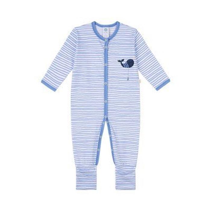 6cf74e8ab0288 Sanetta dors-bien rayé baleine tenues de nuit bébé pyjama bébé bleu Sanetta